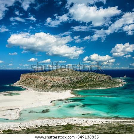 Ballos beach .Crete,Greece - stock photo