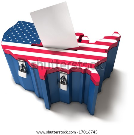 Ballot box - American election - stock photo