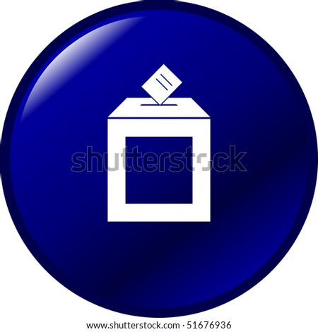 ballot box button - stock photo