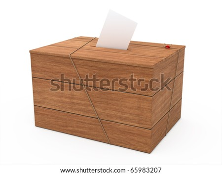 ballot box (clipping path) - stock photo