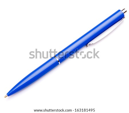 Ballpoint pen isolated on white background cutout
