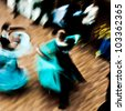 Ballroom dance in motion - stock photo