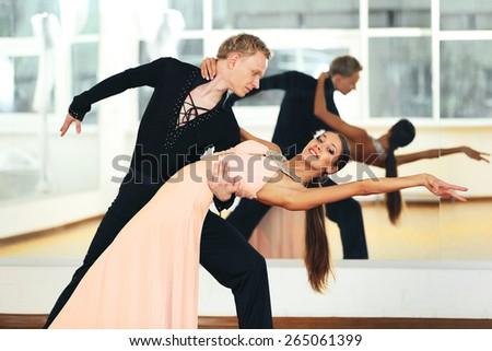 Ballroom dance in motion - stock photo