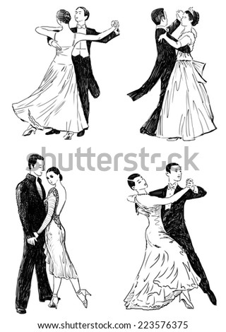 ballroom dances - stock photo