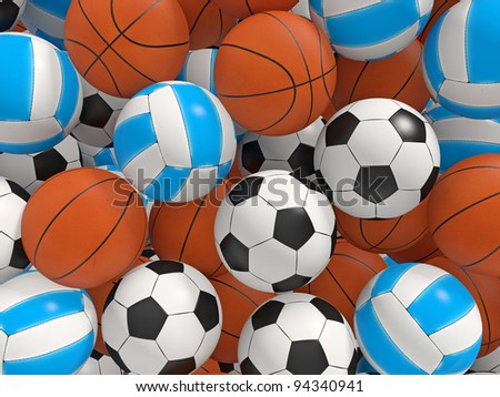 Balls background.  3D rendered illustration. - stock photo