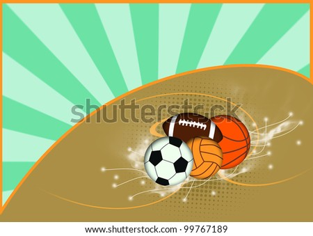 Balls background with space (poster, web, leaflet, magazine) - stock photo