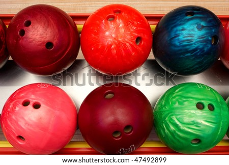 balls for bowling - stock photo