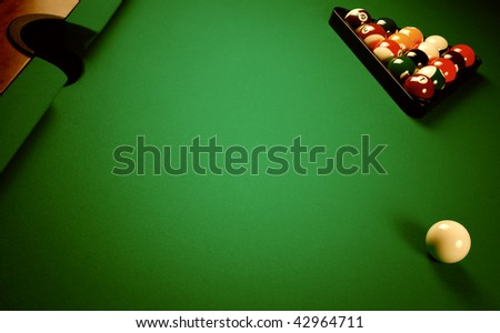 Balls for playing a pool - stock photo