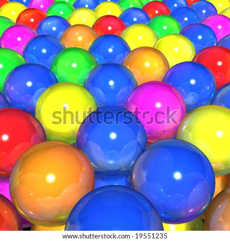 Balls of colors - stock photo