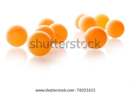 balls, table, collection, grouping, group, row, tennis,pingpong,Orange Sports - stock photo