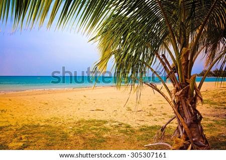 Balneario la Monserrate Beach Along Puerto Rico - stock photo