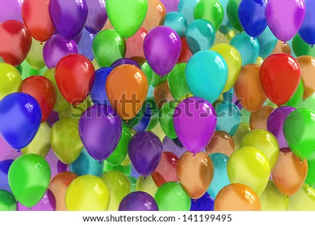 baloons background - stock photo