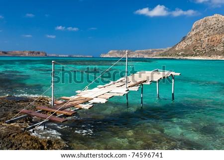 Balos bay, Crete, Greece. - stock photo