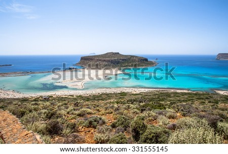 Balos beach on the greek Island Crete
