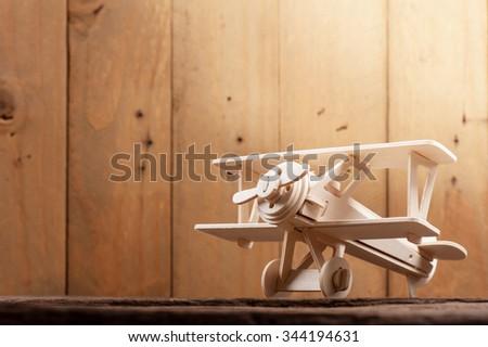 Balsa wood model airplane kits - stock photo