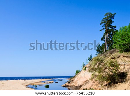 Baltic Sea and river - stock photo