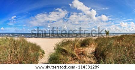 Baltic Sea Beach of Usedom Island, Germany - stock photo
