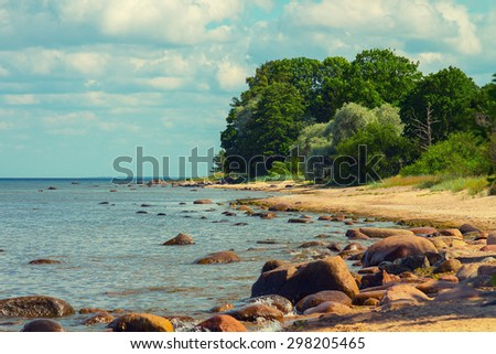 Baltic sea coast - stock photo