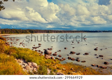 Baltic sea coast, Estonia - stock photo