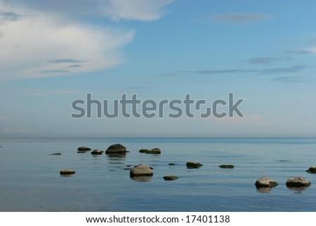 Baltic sea coast (Latvia) - stock photo