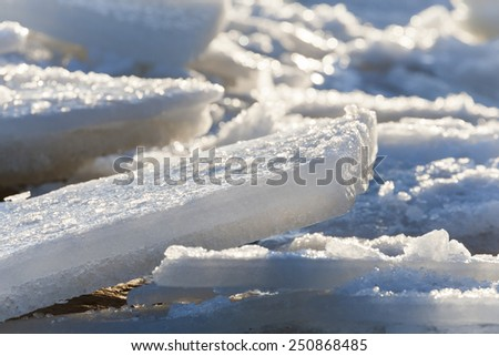 Baltic Sea Ice - stock photo