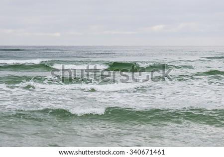Baltic Sea in Jurata- Poland - stock photo