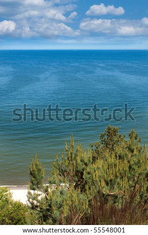 Baltic sea landscape - view from a cliff