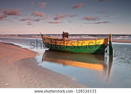 Baltic sea sunrise in Poland
