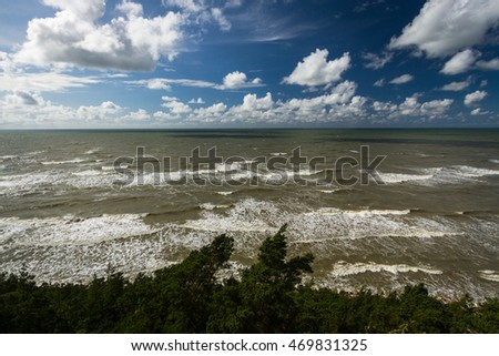 Baltic Sea views with clouds