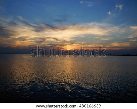 Baltic sea,water and sunset
