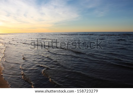 Baltic Sea waterscape.
