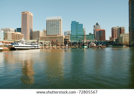 Baltimore Skyline - stock photo