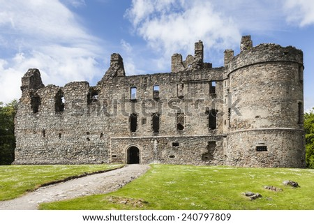 Balvenie castle in Dufftown in Scotland. - stock photo