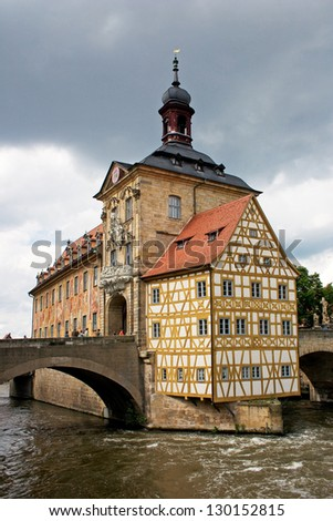 Bamberg old town hall - stock photo