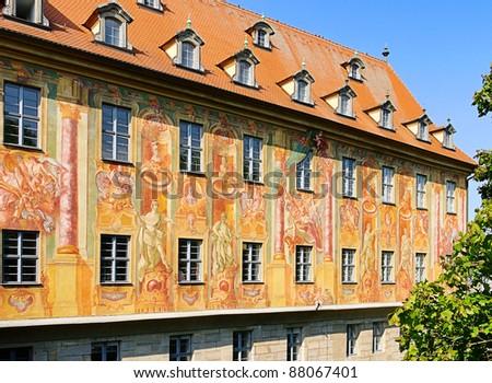 Bamberg townhall detail - stock photo