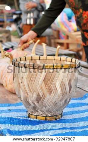 Bamboo Basket Container Handmade Market