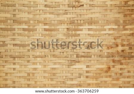 Bamboo basket weave pattern - stock photo