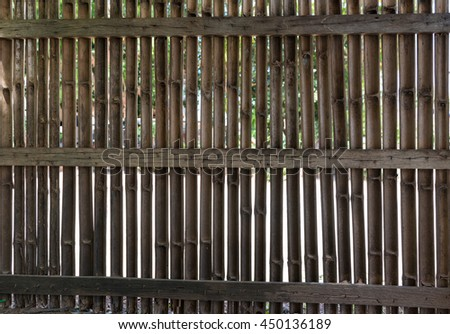 bamboo basketry fence