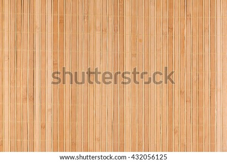 Bamboo beige mat as abstract texture, background, composition, view from above - stock photo