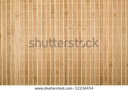 Bamboo board or mat background - stock photo