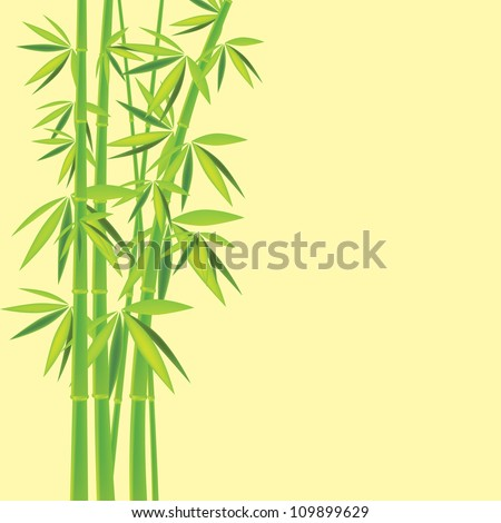 Bamboo chinese drawing printing for you design - stock photo