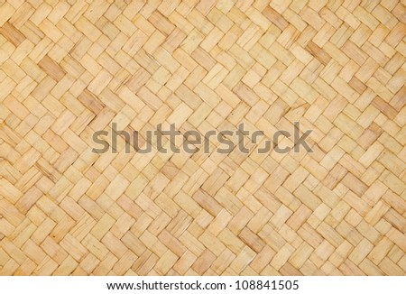 bamboo craft texture - stock photo