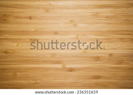 Bamboo Cutting Board Texture, Wooden Background - stock photo