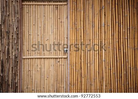 Bamboo door - stock photo