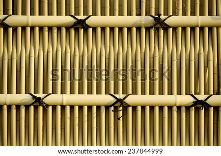 bamboo fence very good to apply as background  - stock photo