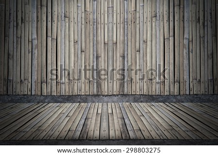 bamboo fence wall background