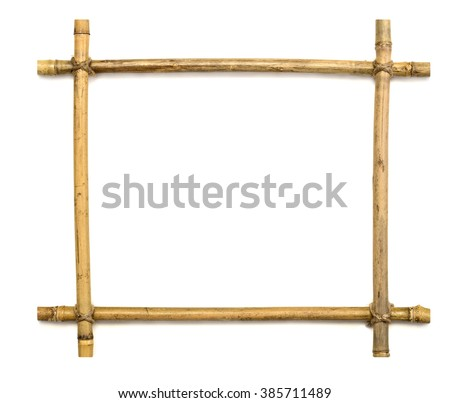 bamboo frame isolated on white background