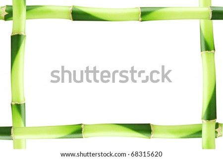 Bamboo frame made of stems