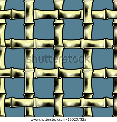 Bamboo grate seamless background - stock photo
