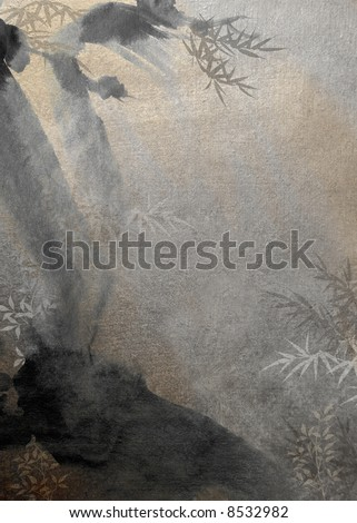 Bamboo in a forest - stock photo